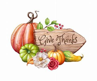 Clip Thanksgiving Watercolor Fall Thanks Give Harvest