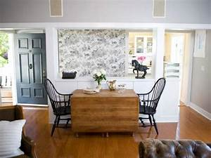 By Design Season 2 Episodes Dining Room With Black And White Toile Wallpaper And Drop