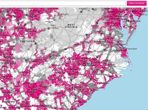 T-Mobile's coverage map doesn't look more accurate to me ...