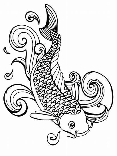 Coloring Lips Kissing Fish Printable Printables Sheets