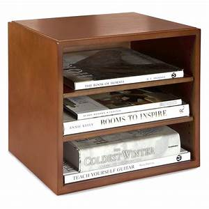 Stack, U0026, Style, Wood, Desk, Organizers, Stacking, Cube, With, Shelves, -, Cherry, -, Walmart, Com