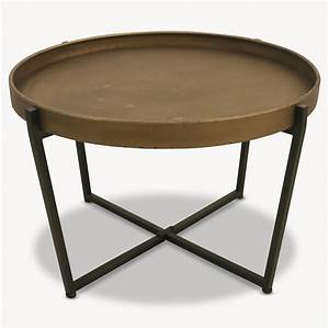 granville round metal coffee table by oneworld With metal circle coffee table