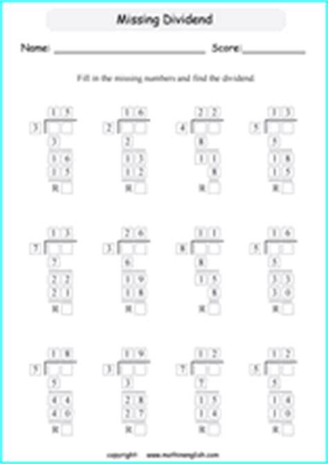 printable long division worksheets  exercises  grade
