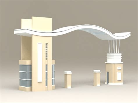 main gate entrance  model ds max files