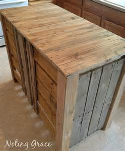 build kitchen island hometalk how to make a pallet kitchen island for less than 50