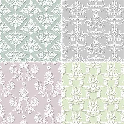 Pastel Damask Seamless Patterns Vector Vecteezy