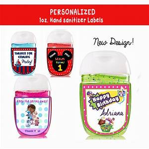 digital personalized 1 oz new hand sanitizer labels baby With custom hand sanitizer labels