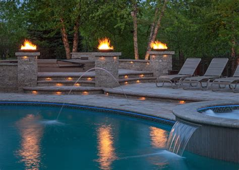 outdoor lighting around pool landscape lighting poolside