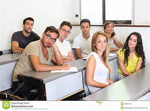 Students Sitting In Class Room Stock Image - Image of ...