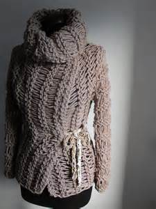 divna s sweaters light brown handmade knitted unique