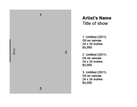 artwork labels template how to label artwork in an exhibition the practical world