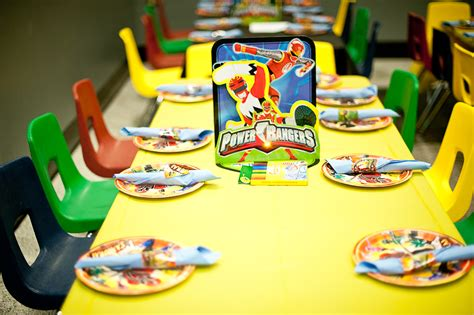 Power Ranger Birthday Party Ideas