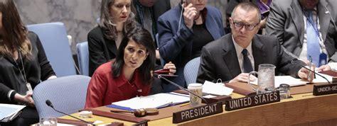 le si鑒e de l onu les etats unis se disent prêts à frapper de nouveau la syrie quot si nécessaire quot