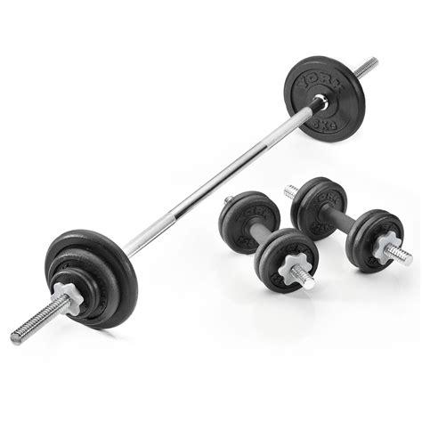 York 35kg Cast Iron Barbell And Dumbbell Set Sweatbandcom