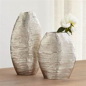 Allegra Silver Vases Crate And Barrel
