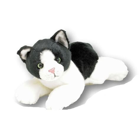 cat black  white plush toy stuffed animal cm