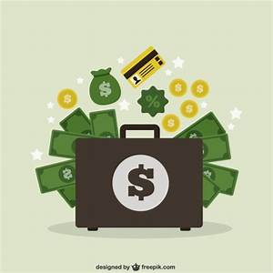 Suitcase with money Vector | Free Download