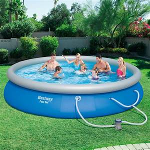 "Bestway 15' x 33"" Fast Set Inflatable Above Ground ..."