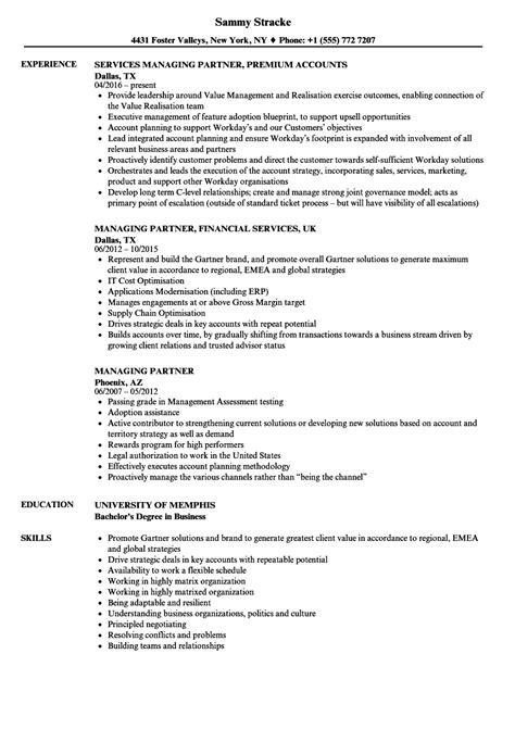 Managing Partner Resume Samples | Velvet Jobs