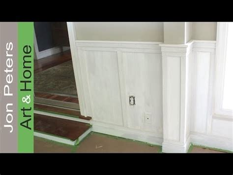how to wainscot how to install chair rail with flat panel wainscoting