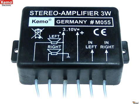 3 Watt Verstärker Modul Stereo M055 Kemo  Lüdeke Elektronic