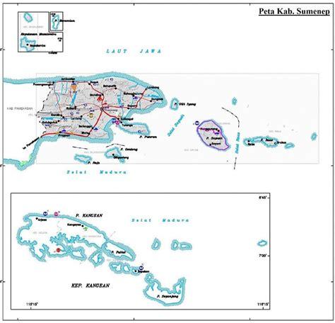 peta kabupaten sumenep hd lengkap gambar  keterangannya