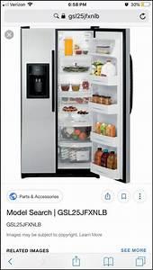 Ge Refrigerator Model Number Gsl25jfxnlb