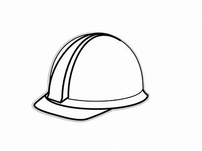 Hat Construction Clip Hard Yellow Worker Clipart