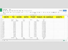 What Are Pivot Tables In Google Sheets – Review Home Decor