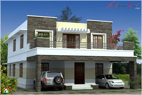 simple contemporary style kerala house elevation beautiful homes  vacation spots