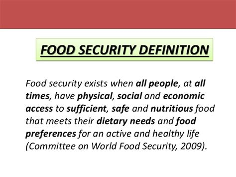 cuisines meaning food security definition