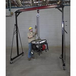 Roughneck Manual Chain Hoist  U2014 1 Ton  20ft  Lift