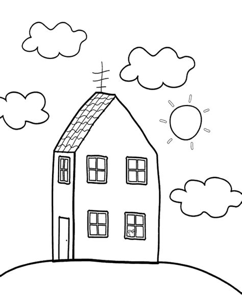 Peppa's home coloring sheets Topcoloringpages net