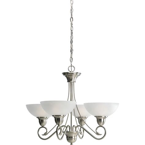 home depot chandelier progress lighting pavilion collection brushed nickel 4
