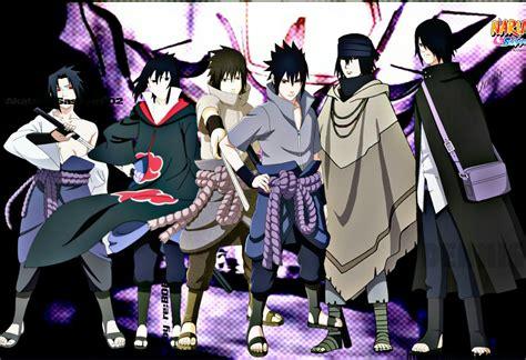 sasuke uchiha all forms naruto naruto shippuden naru