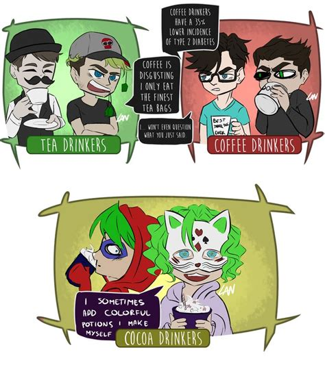 The growth of coffee shops. YT Tea vs Coffee... COCOA! by Laneusz (With images) | Darkiplier and antisepticeye ...