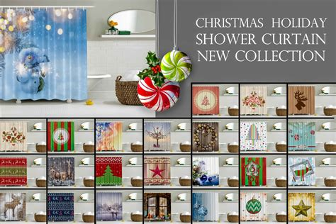 Fabric Shower Curtain With Liner by Christmas Holiday Designer S Collection Digital Graphic