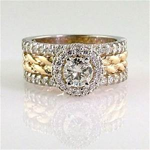 gold rope and diamond engagement ring 20 year wedding With 20 year wedding anniversary rings