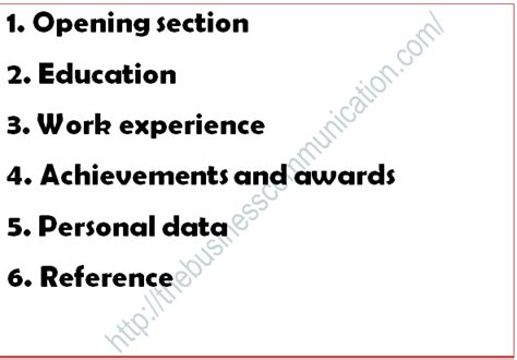 Contents Of Resume by Contents Of Resume
