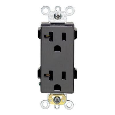 leviton decora   amp duplex outlet black