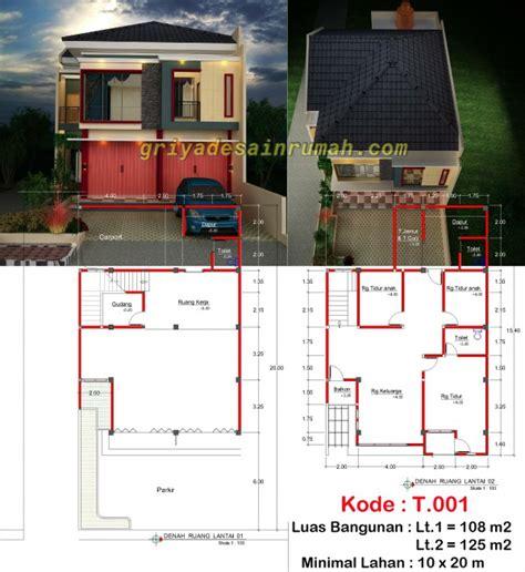 desain ruko minimalis  lantai  bogor jasa desain rumah