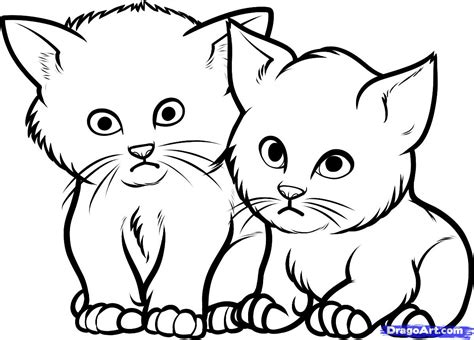 Drawing Of Cats And Kittens Cute Cat