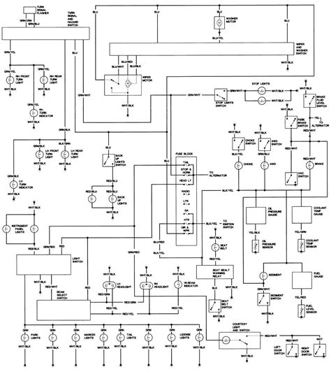 complete wiring diagram    hj diesel landcruiser