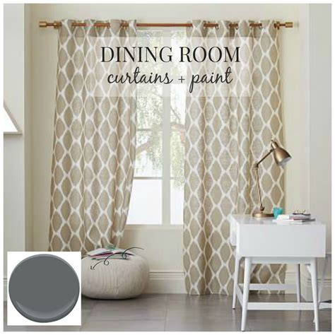 dining room curtains dining room design curtains paint city farmhouse