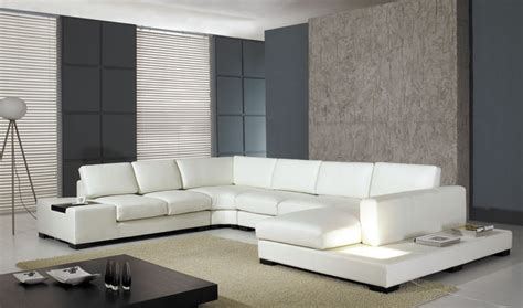 casa t divani casa t35 modern italian leather sectional sofa with