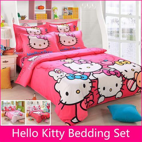 brand logo  kitty bedding set children cotton bed