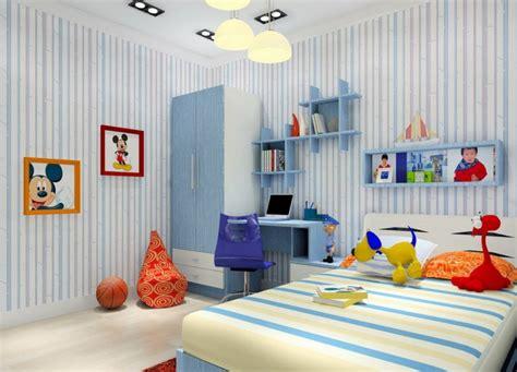 light blue kids cartoon bedroom 3d house