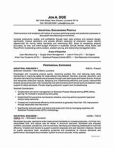industrial engineering resume sample professional resume With engineering resume format