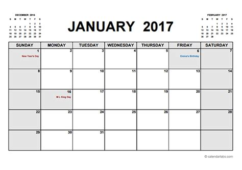 2017 calendar template pdf 2017 printable calendar pdf free printable templates