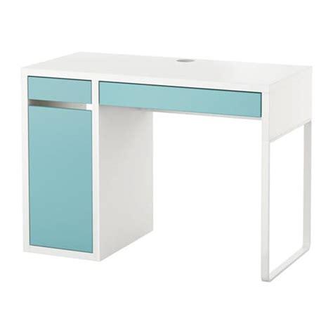 bureau micke micke bureau blanc turquoise clair ikea